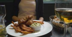 Fish and chips Stock Footage