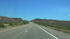 4K UHD heading southbound into hills near Nothing Arizona time lapse Stock Footage