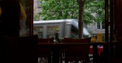 French cafe view Stock Footage