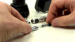 Fountain pen filling Stock Footage
