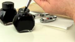 Fountain pen ink filling 4 Stock Footage