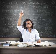 Student has the solution - stock photo