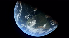 Stationary Orbit Over North America -  CG Earth 4k HD Stock Footage