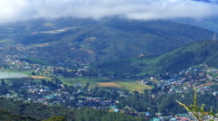 Nuwara Eliya, Gregory lake and clouds over Stock Footage