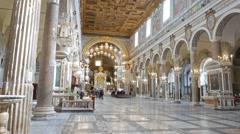 Santa Maria in Aracoeli. Rome, Italy Stock Footage
