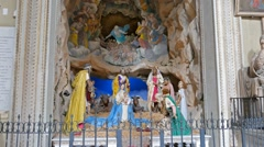 Adoration of the Magi. Scene in Santa Maria in Arakoeli. Rome, Italy. 1280x720 Stock Footage