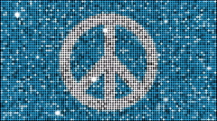 Peace symbol - seamless looping - stock footage