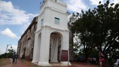Stock Video Footage of Remaining ruins St.Paul's church in Malacca, Malaysia