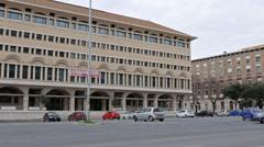 House on Piazza Don Luigi Sturzo. EUR district. Rome, Italy. 1280x720 Stock Footage