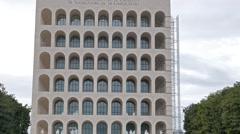 Pinterest Palazzo della Civiltà e del Lavoro. EUR district. Rome, Stock Footage