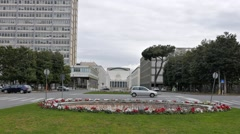 Palace of Congresses. EUR district. Rome, Italy. 1280x720 Stock Footage
