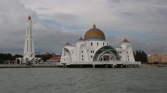 Straits Mosque in Malacca, Malaysia Stock Footage