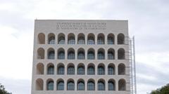 Pinterest Palazzo della Civilta e del Lavoro. EUR district. Rome, Stock Footage