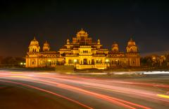 Albert Hall (Central Museum) in Jaipur - stock photo