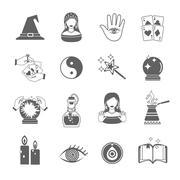 Stock Illustration of Fortune Teller Icon Set