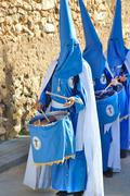Typical religious procession. Holy Week. Spain - stock photo