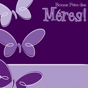 Hand Drawn French Happy Mother's Day card in vector format. Stock Illustration