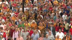 Wembley stadium football soccer fans Stock Footage
