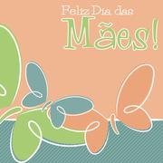 Hand Drawn Portuguese Happy Mother's Day card in vector format. - stock illustration