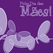 Hand Drawn Portuguese Happy Mother's Day card in vector format. Stock Illustration