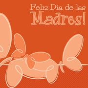 Hand Drawn Spanish Happy Mother's Day card in vector format. Stock Illustration