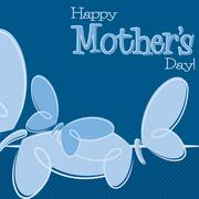 Hand Drawn Happy Mother's Day card in vector format. - stock illustration