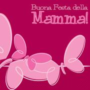 Hand Drawn Italian Happy Mother's Day card in vector format. - stock illustration