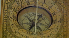 A vintage kind of clock with an ancient look Stock Footage