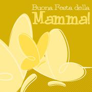 Hand Drawn Italian Happy Mother's Day card in vector format. Stock Illustration