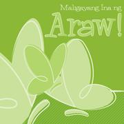 Hand Drawn Tagalog Happy Mother's Day card in vector format. - stock illustration