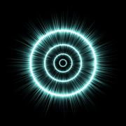 Astract circular ray of light bursting on black background Stock Illustration