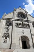 Cathedral of GEMONA in Northen Italy rebuilt after the earthquake - stock photo