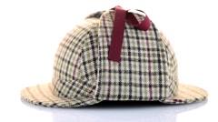 British Deerhunter or Sherlock Holmes cap Stock Footage