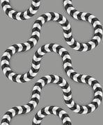 Zig Zag Stripes, Optical Illusion, Vector Seamless Pattern. Some Stock Illustration