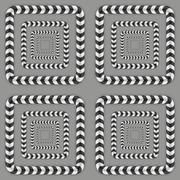 Rotating Squares, Optical Illusion, Vector Seamless Pattern Stock Illustration