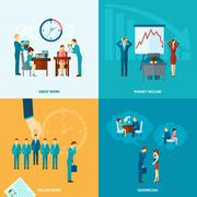 Flat Stress Set Stock Illustration