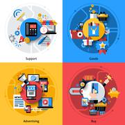 E-commerce Icons Set Stock Illustration