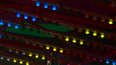 Flashing Carnival Lights - stock footage