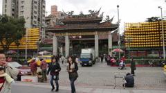 Taipei Longshan Temple. HD Stock Footage