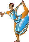 Stock Illustration of Indian dancer