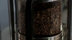 Mixing Coffee In Electrical Appliances For Grinding And Mixing Coffee, Close Up Stock Footage