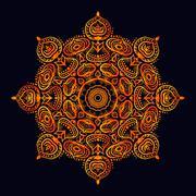 Mandala. Round Ornament Pattern - stock illustration