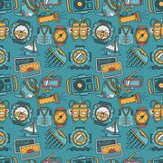 Colored background for sea leisure Stock Illustration