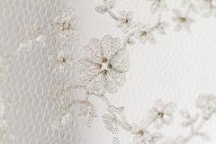Close up photot of beautiful Italian lace - stock photo