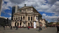 The Alte Oper - a concert hall in Frankfurt, Germany Stock Footage