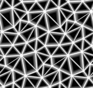 Triangular Geometric Mosaics, Vector Seamless Background Pattern Stock Illustration