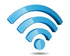 Wi Fi Wireless Network Symbol, Vector Illustration - stock illustration