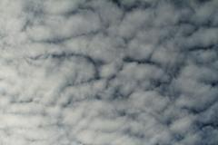 Photo of the beautiful white cirrus clouds - stock photo
