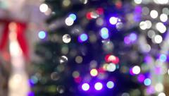 Magical Christmas tree of Santa Claus - stock footage