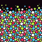 Abstract background with color circles. Vector illustration Stock Illustration